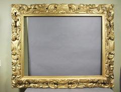 Large Italian Baroque Style Giltwood Frame image 2
