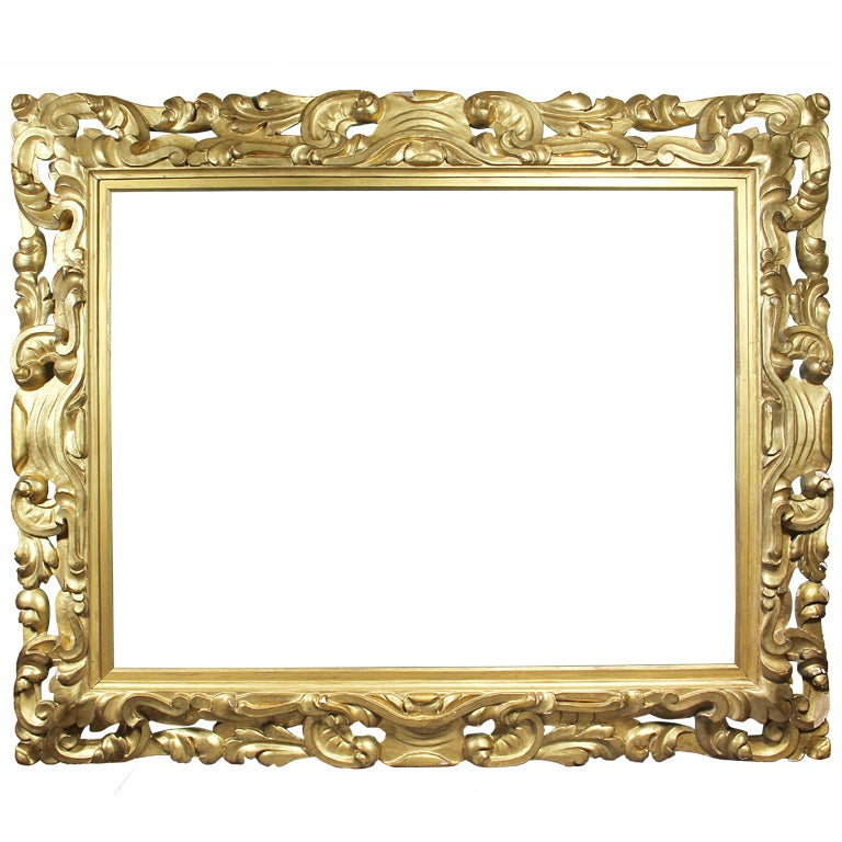 Large italian baroque style giltwood frame at 1stdibs for Large a frame