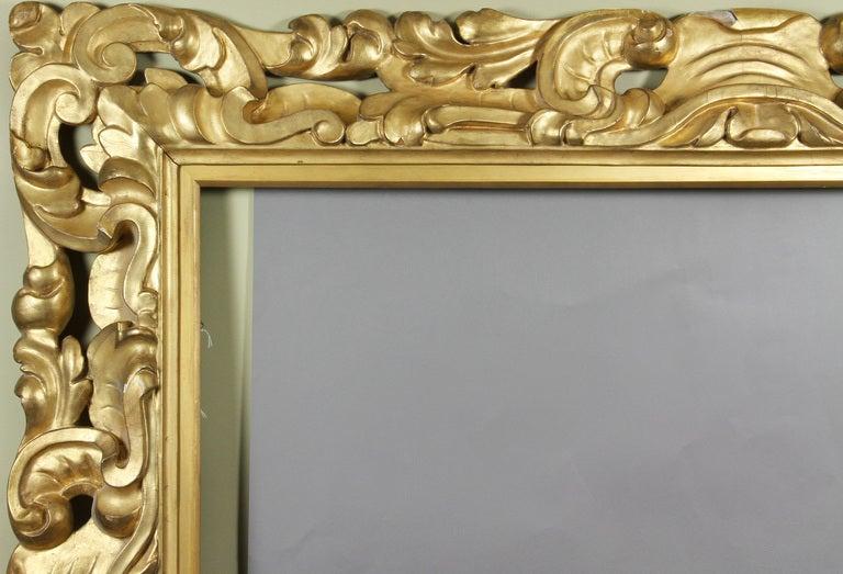 Large Italian Baroque Style Giltwood Frame 3