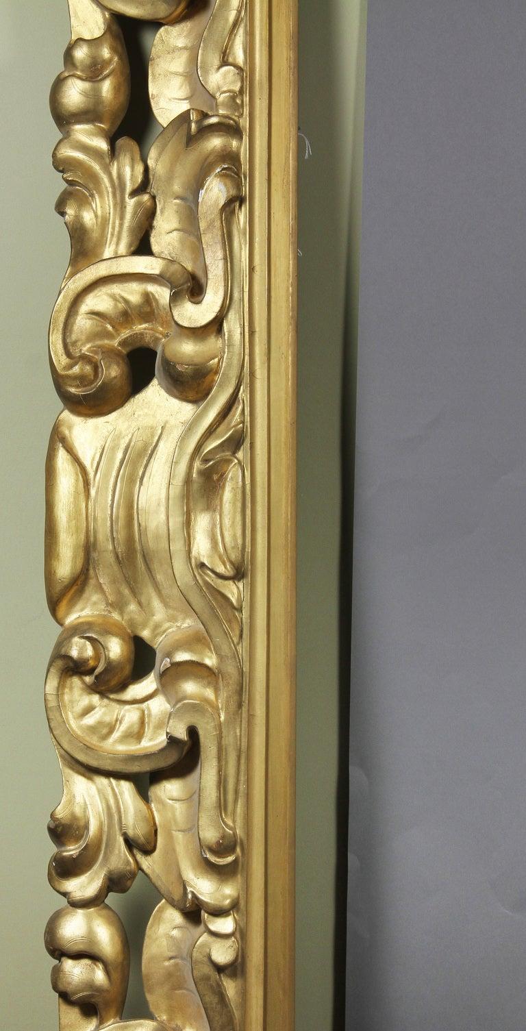 Large Italian Baroque Style Giltwood Frame 4