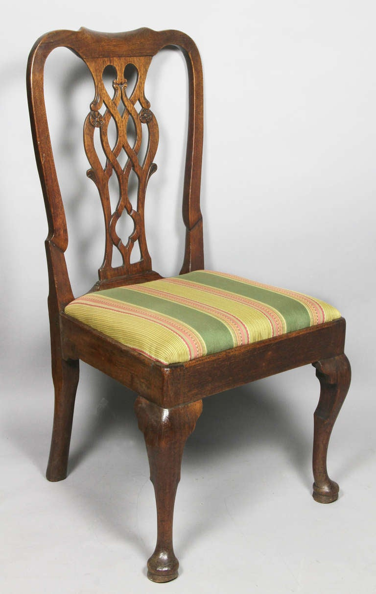 Set Of Four George III Mahogany Dining Chairs At 1stdibs