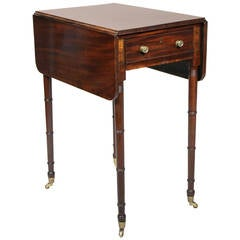 Regency Mahogany And Brass Inlaid Table