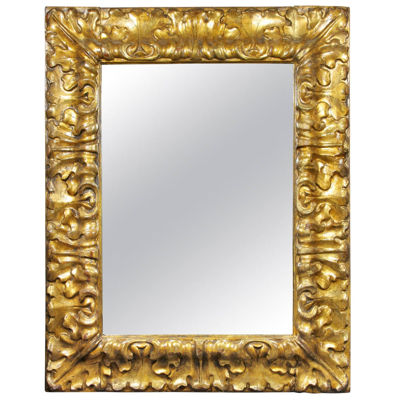 Italian baroque style giltwood mirror for sale at 1stdibs for Baroque mirror