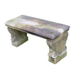 19th Century Italian White Marble Garden Bench
