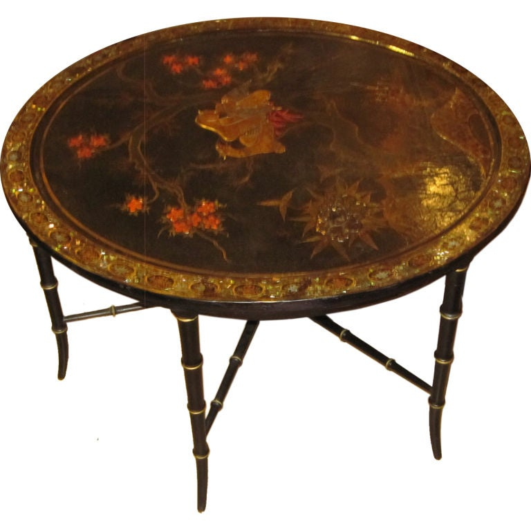 Victorian Papier Mache Tray Top Coffee Table At 1stdibs