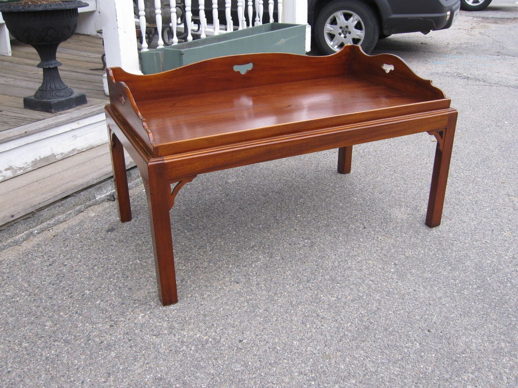 George Iii Style Mahogany Butlers Tray Coffee Table At 1stdibs