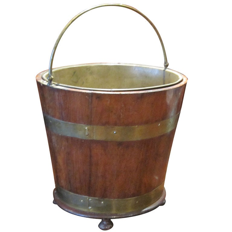 Regency Style Mahogany Peat Bucket At 1stdibs