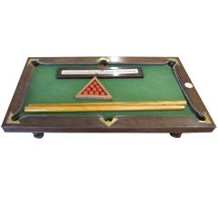 Miniature Mahogany Pool Table