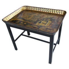 Regency Papier Mache Tray Table
