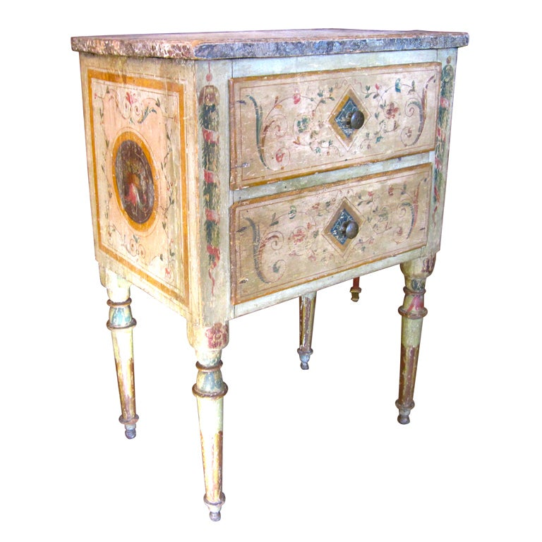 Italian neoclassical painted commodini at 1stdibs for Italian painted furniture