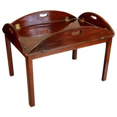 George IV Mahogany Butlers Tray Table