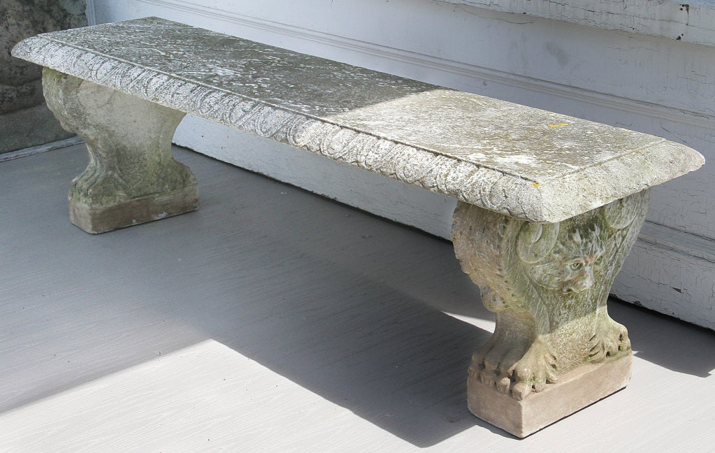 Limestone Bench Part - 47: Italian Marble Bench 3
