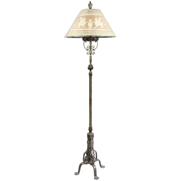 Craft Floor Lamps: Arts And Crafts Wrought Iron Floor Lamp At 1stdibs
