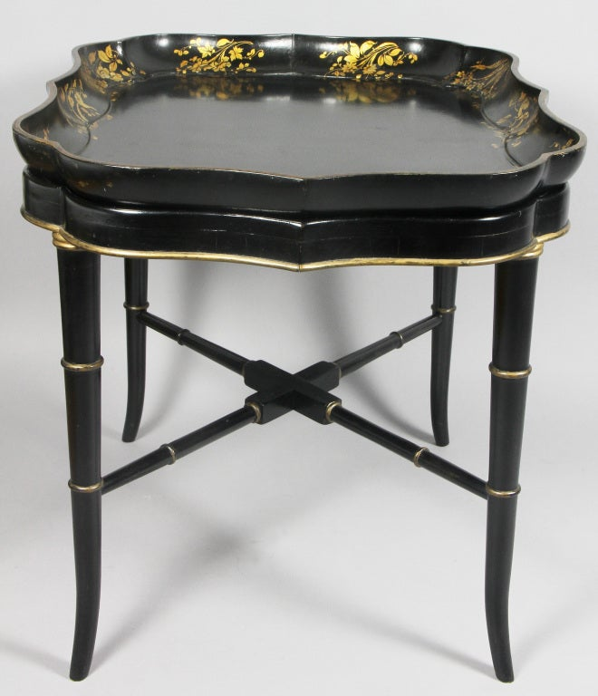 Tray Coffee Table Sale: Victorian Papier Mache Tray Top Coffee Table At 1stdibs