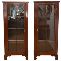 Pair of 18th Century Mahogany Glazed Bookcases