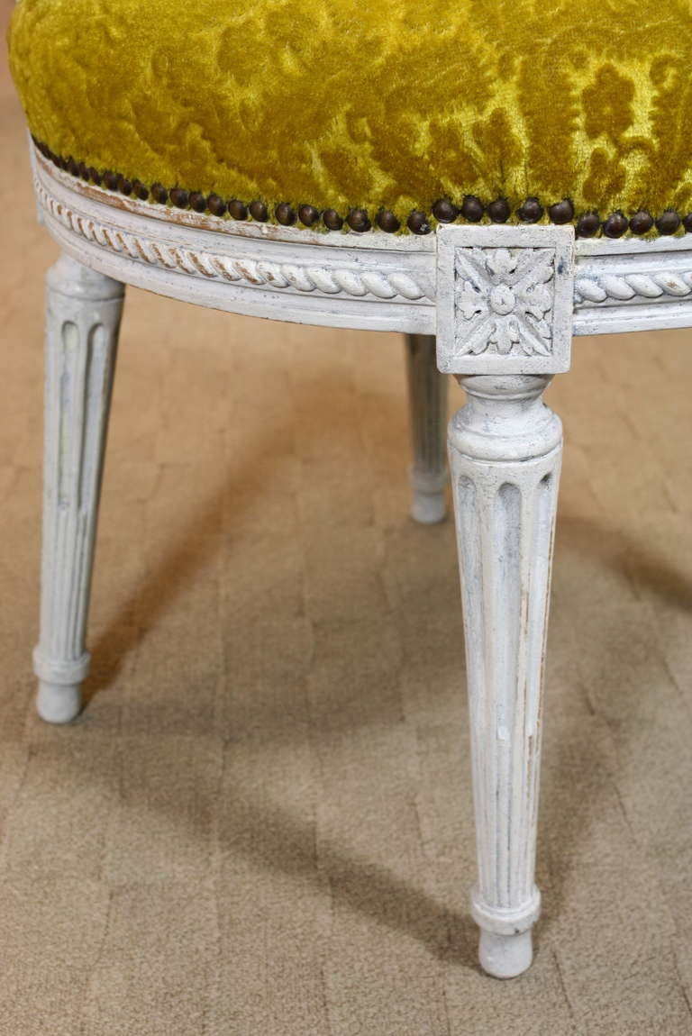 Set of Eight Louis XVI Period Side Chairs For Sale 2