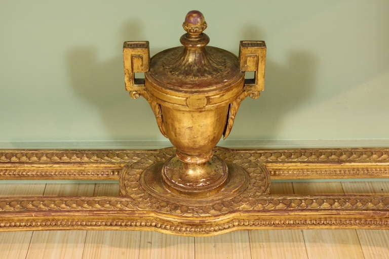 Impressive French Giltwood Console with Travertine Marble Top For Sale 1