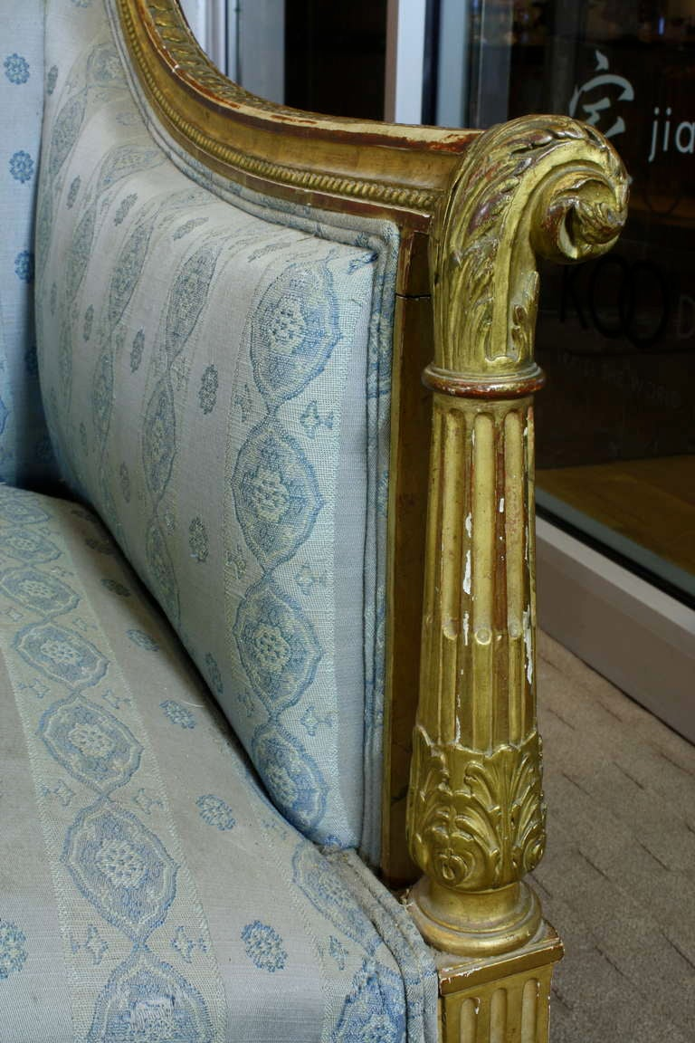 petit louis xvi style giltwood canape at 1stdibs. Black Bedroom Furniture Sets. Home Design Ideas