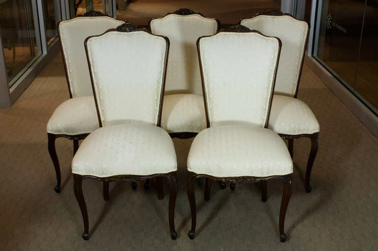 Set of Six Louis XV Style Dining Chairs 3