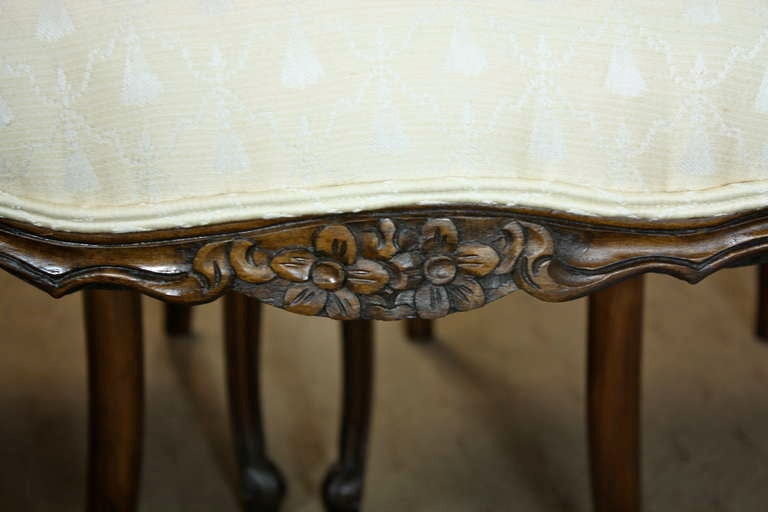 Set of Six Louis XV Style Dining Chairs 8