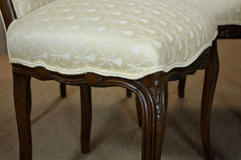 Set of Six Louis XV Style Dining Chairs 7