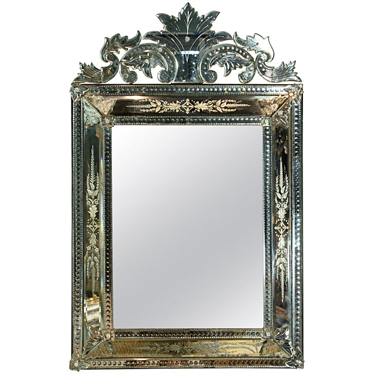 Venetian Pareclose Mirror with Bevelled Glass