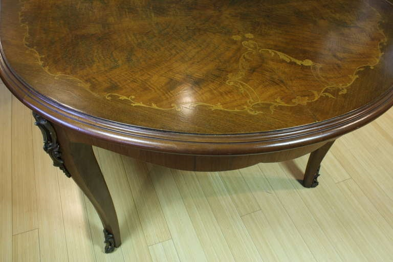 French, Louis XV Style Marquetry Dining Table For Sale 2