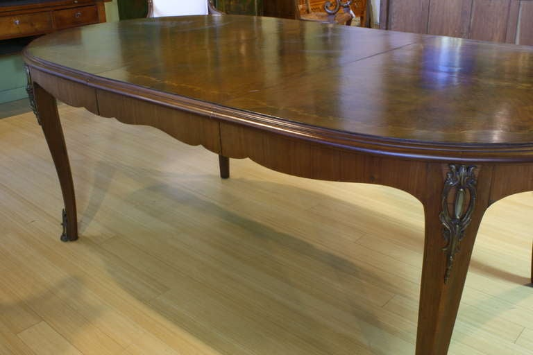20th Century French, Louis XV Style Marquetry Dining Table For Sale