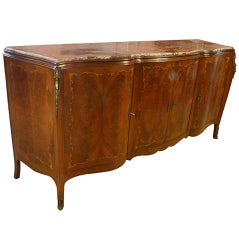 French Serpentine Marquetry Buffet