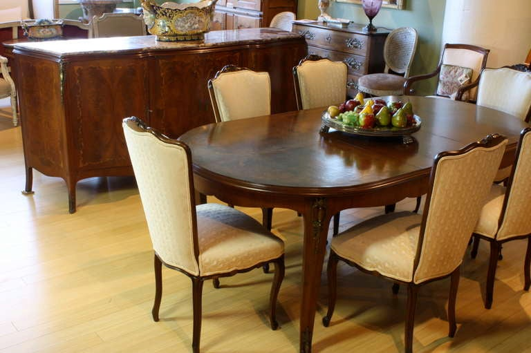 French, Louis XV Style Marquetry Dining Table For Sale 5