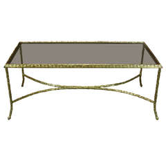 French Gilt-Bronze Coffee Table by Maison Baguès