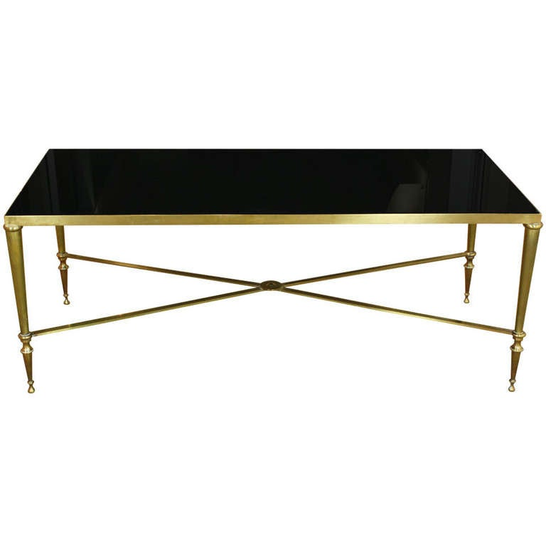 French Bronze And Glass Coffee Table By Maison Ramsay At 1stdibs