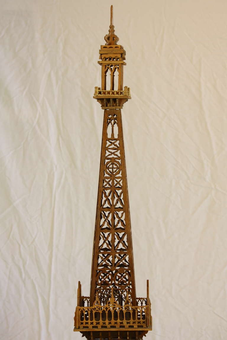 19th Century Eiffel Tower Model