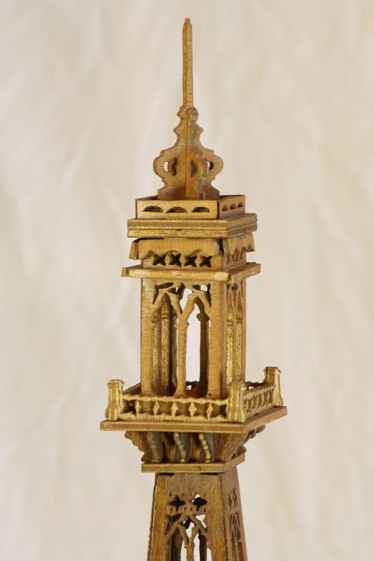 Wood Eiffel Tower Model