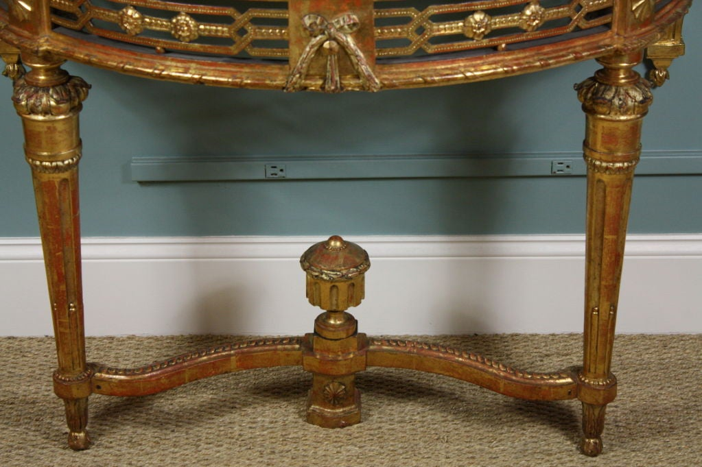 French Louis XVI Period Console Table with Breccia Marble Top In Good Condition For Sale In Pembroke, MA