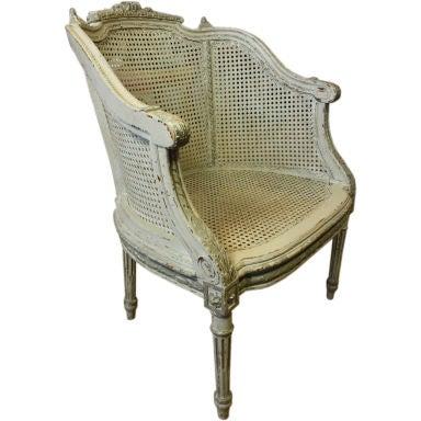 French Louis XVI Style Fauteuil de Bureau