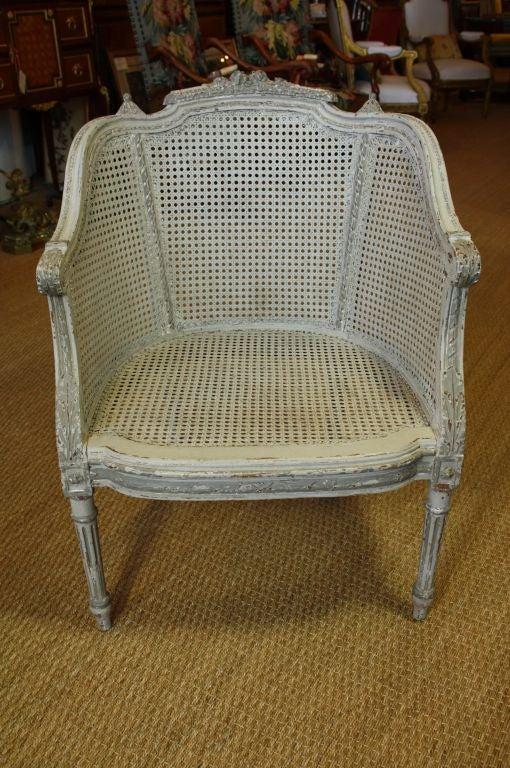 french louis xvi style fauteuil de bureau at 1stdibs. Black Bedroom Furniture Sets. Home Design Ideas