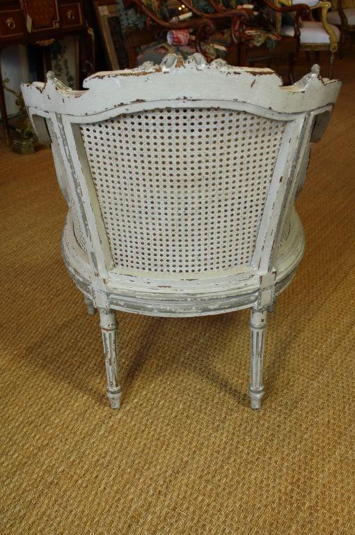 Wood French Louis XVI Style Fauteuil de Bureau For Sale