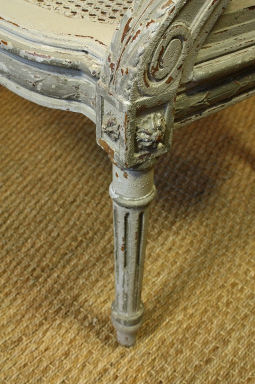French Louis XVI Style Fauteuil de Bureau For Sale 3