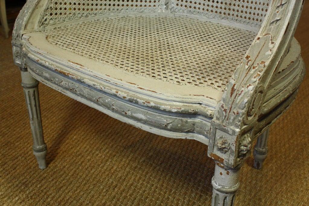 French Louis XVI Style Fauteuil de Bureau For Sale 4