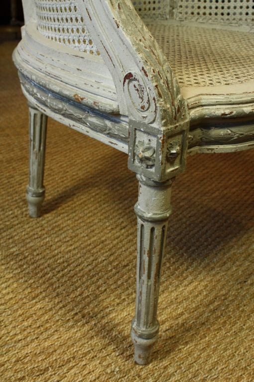 French Louis XVI Style Fauteuil de Bureau For Sale 5