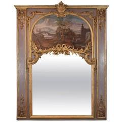 Impressive Louis XVI Period Trumeau Mirror