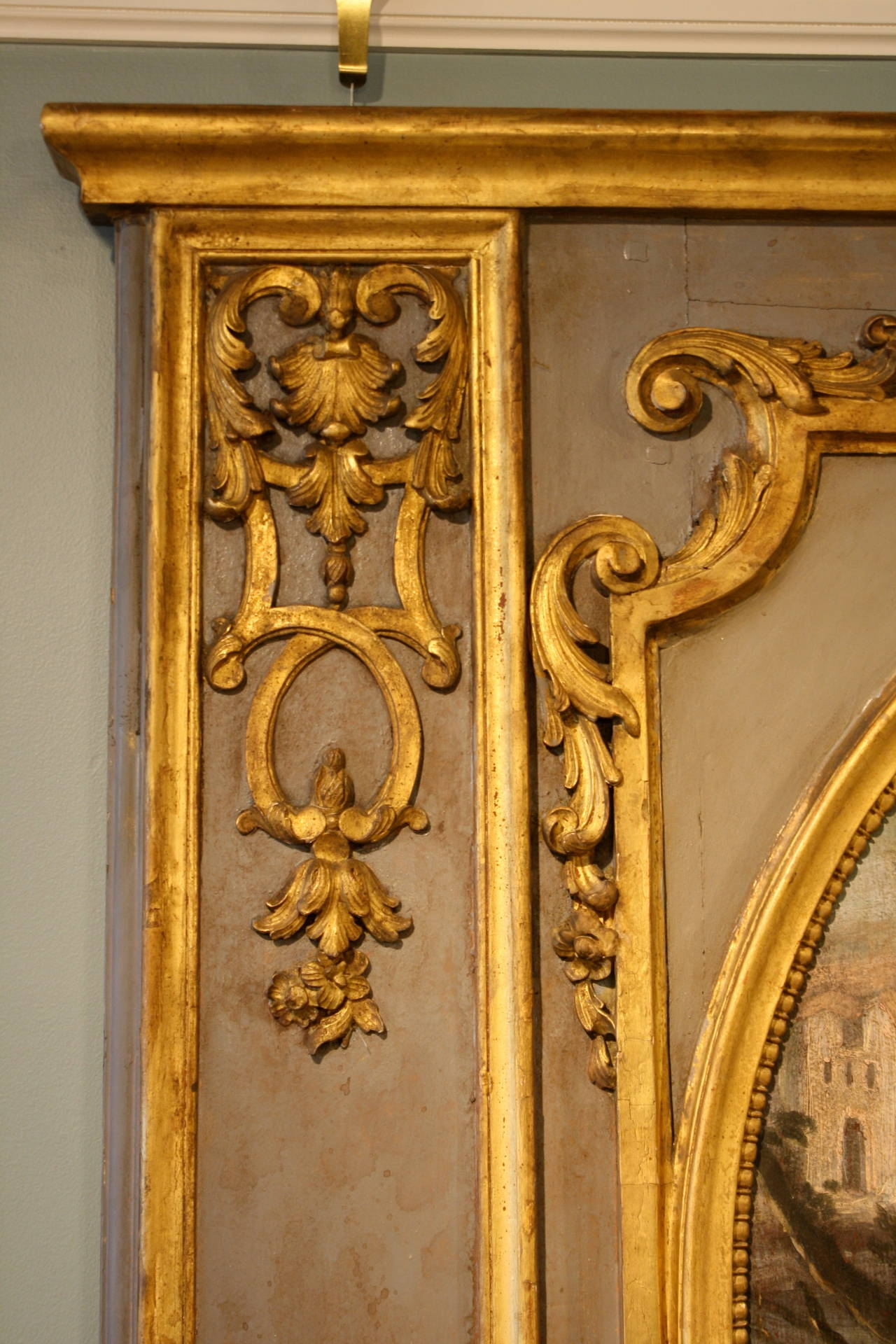 Impressive Louis XVI Period Trumeau Mirror For Sale 2