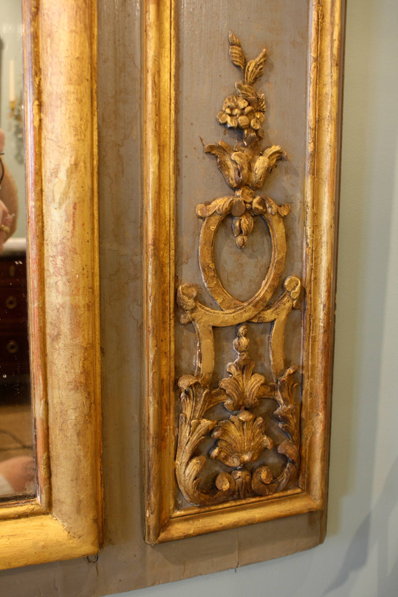 Impressive Louis XVI Period Trumeau Mirror For Sale 3