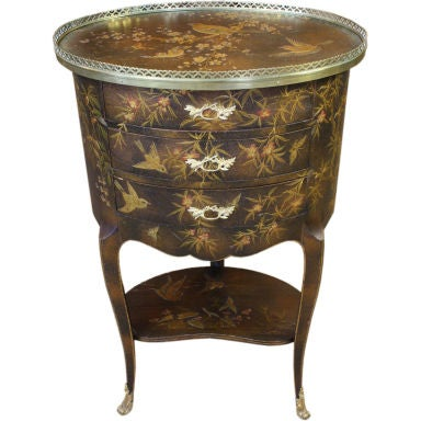 French Napoleon III Painted Side Table