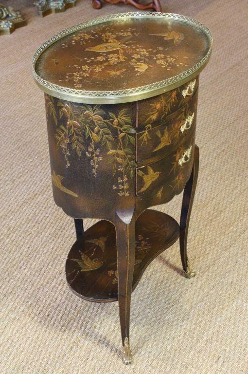 French Napoleon III Painted Side Table 2