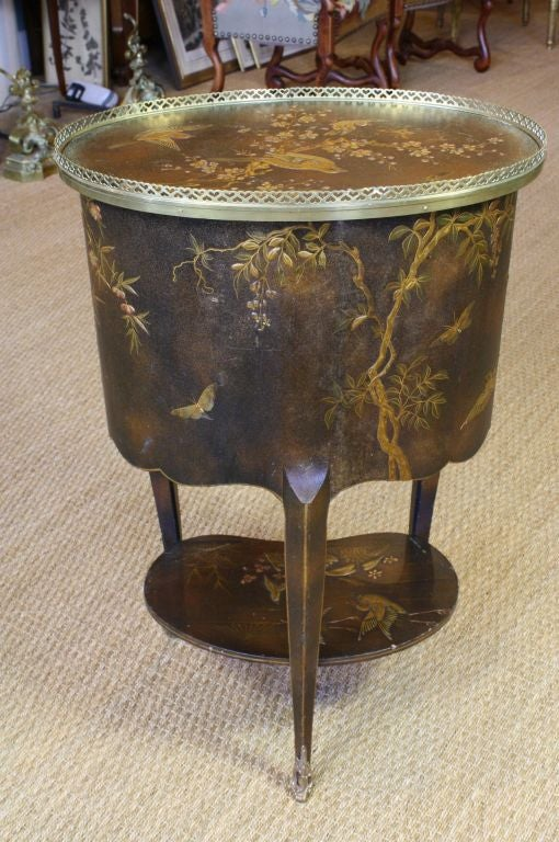 French Napoleon III Painted Side Table 4
