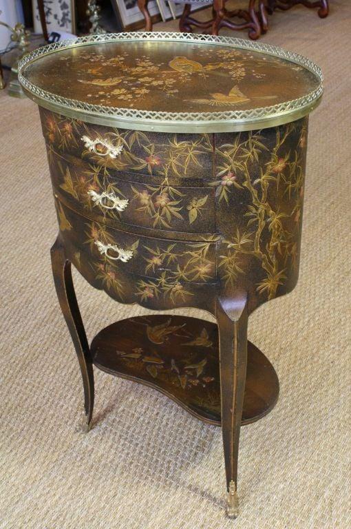 French Napoleon III Painted Side Table 6
