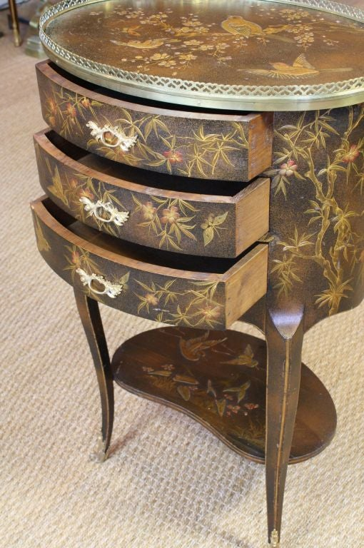 French Napoleon III Painted Side Table 7