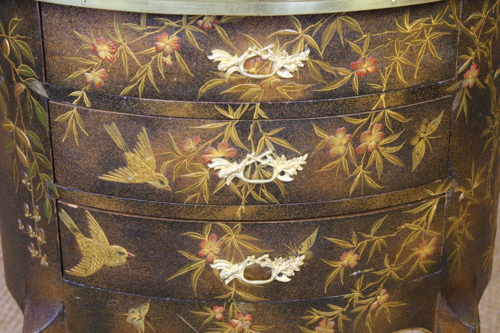 French Napoleon III Painted Side Table 8